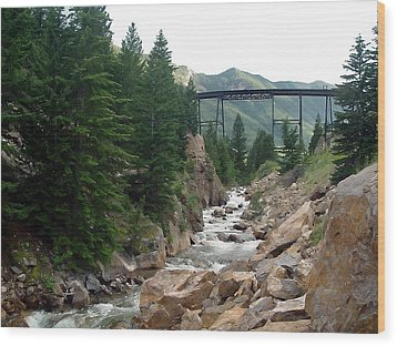 Clear Creek Colorado Wood Print