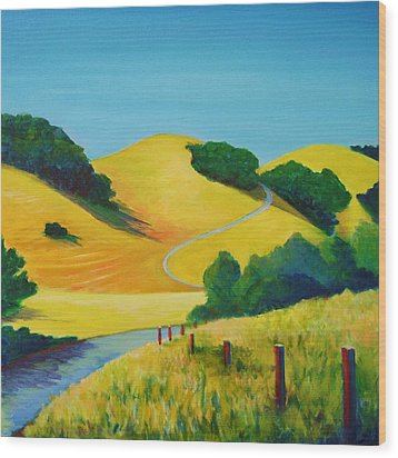 Clear Fall Day At Briones Wood Print by Stephanie  Maclean