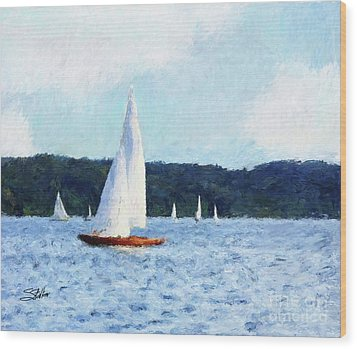 Clear Sailing Wood Print by Shirley Stalter