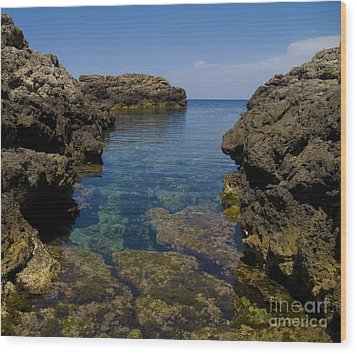 Clear Water Of Mallorca Wood Print