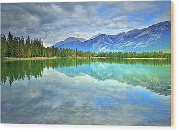 Wood Print featuring the photograph Clear Waters At Lake Annette by Tara Turner