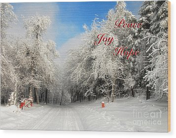 Clearing Skies Christmas Card Wood Print by Lois Bryan