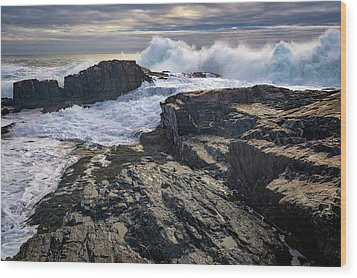 Wood Print featuring the photograph Clearing Storm At Bald Head Cliff by Rick Berk