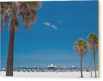 Clearwater Beach Wood Print by Adam Romanowicz