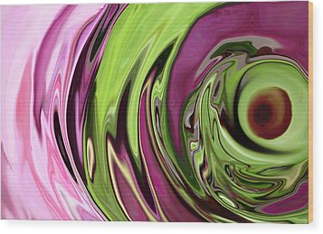 Clematis Eye Wood Print by Linnea Tober