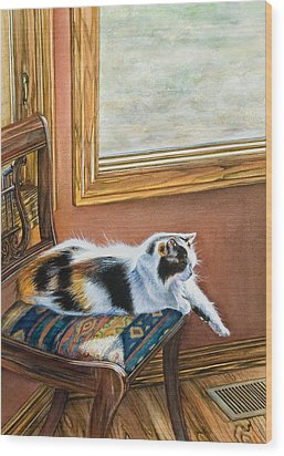 Cleo In The Sun Wood Print by Laurie Tietjen