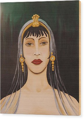 Cleo Wood Print by Leah Saulnier The Painting Maniac