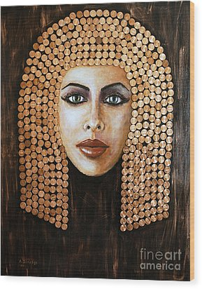 Cleopatra Wood Print by Arturas Slapsys