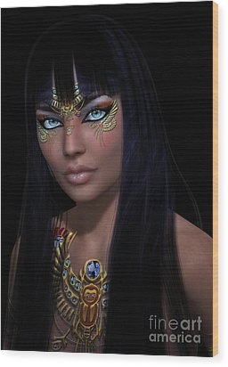 Cleopatra   Col Wood Print by Shadowlea Is