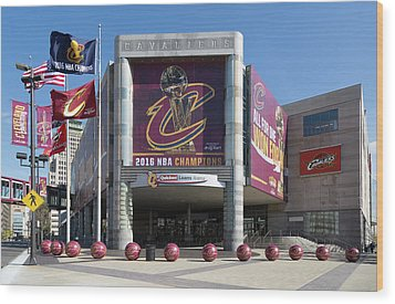 Cleveland Cavaliers The Q Wood Print