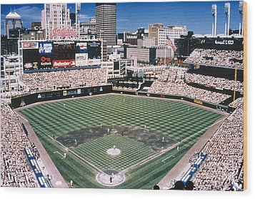 Cleveland: Jacobs Field Wood Print by Granger