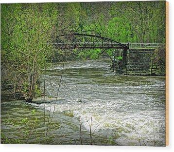 Cleveland Metropark Bridge Wood Print