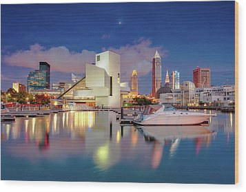 Wood Print featuring the photograph Cleveland Ohio 2  by Emmanuel Panagiotakis