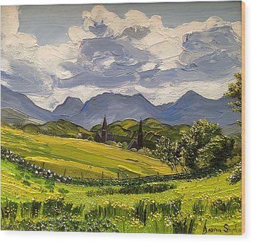 Clifden Landscape Ireland Wood Print