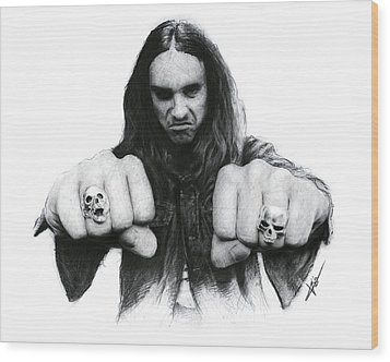 Cliff Burton Wood Print