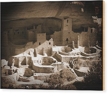 Wood Print featuring the photograph Cliff Palace Mesa Verde by Kurt Van Wagner