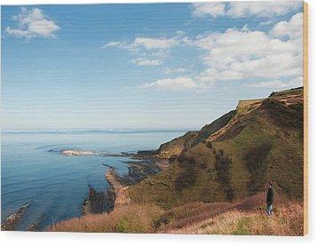 Cliff Side Wood Print by Svetlana Sewell