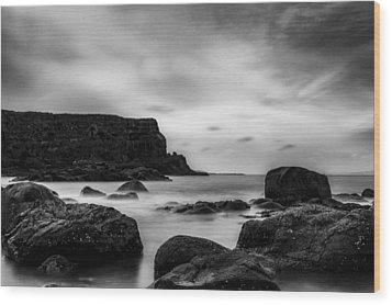 Cliffs Near Causeway Wood Print