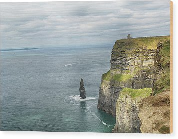 Cliffs Of Moher 3 Wood Print by Marie Leslie