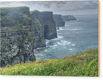 Wood Print featuring the photograph Cliffs Of Moher by Alan Toepfer