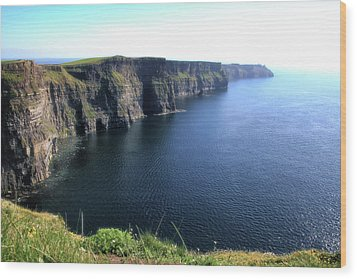 Cliffs Of Moher Wood Print by Catherine Alfidi