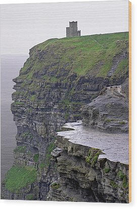 Cliffs Of Moher Ireland Wood Print by Charles Harden