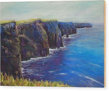 Cliffs Of Moher Wood Print by Joyce A Guariglia