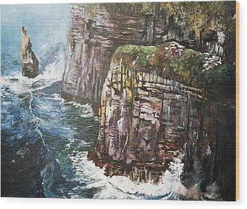Cliffs  Wood Print by Paul Weerasekera