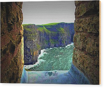 Cliffs Personalized Wood Print