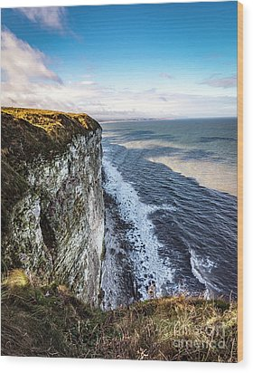 Wood Print featuring the photograph Cliffside View by Anthony Baatz
