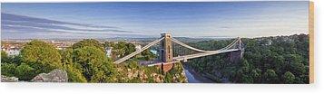 Clifton Suspension Bridge Wood Print by Stewart Scott