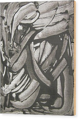 Clinical Depression Wood Print by Bruce Combs - REACH BEYOND