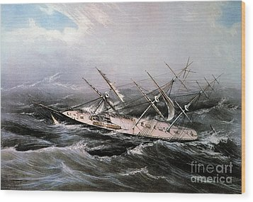 Clipper Ship Comet, 1855 Wood Print by Granger