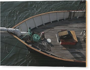 Clipper's Bow Wood Print by Christopher Kirby