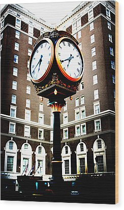 Wood Print featuring the photograph Clock by Kelly Hazel