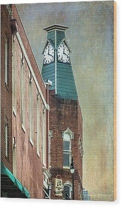 Clock Tower Downtown Statesville North Carolina Wood Print