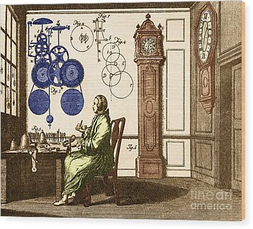 Clockmaker Wood Print by Photo Researchers