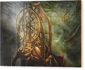 Clockmaker - The Day Time Stood Still  Wood Print by Mike Savad