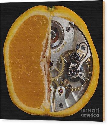 Wood Print featuring the photograph Clockwork Orange by Brian Roscorla