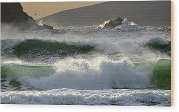 Clogher Beach In Kerry Wood Print