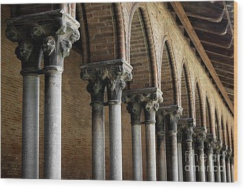 Wood Print featuring the photograph Cloister Detail, Couvent Des Jacobins by Elena Elisseeva