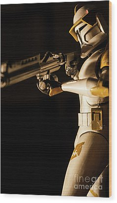 Wood Print featuring the photograph Clone Trooper 6  by Micah May