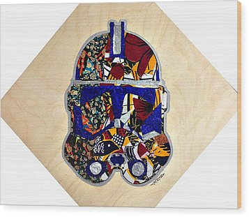 Clone Trooper Star Wars Afrofuturist Wood Print by Apanaki Temitayo M