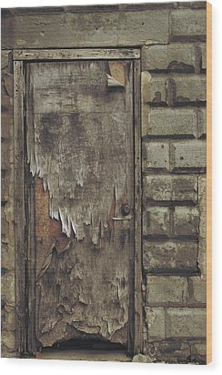 Close The Door Wood Print by Odd Jeppesen