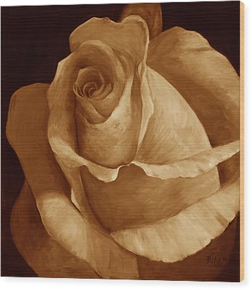 Close To Perfection Sepia Wood Print by Billie Colson