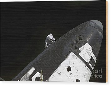 Close-up View Of The Nose Cone On Space Wood Print by Stocktrek Images