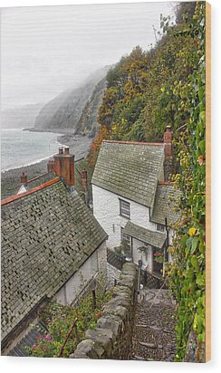 Clovelly Coastline Wood Print by RKAB Works
