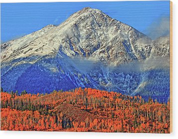 Wood Print featuring the photograph Closing In On Fall by Scott Mahon