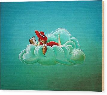 Cloud 9 Wood Print by Cindy Thornton