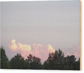 Wood Print featuring the photograph Cloud 99 by Robin Coaker